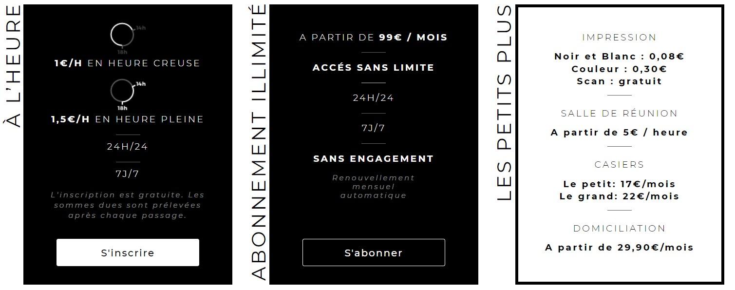 Coworking pas cher Permanence Paris